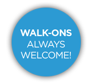 Walk-ons always welcome!